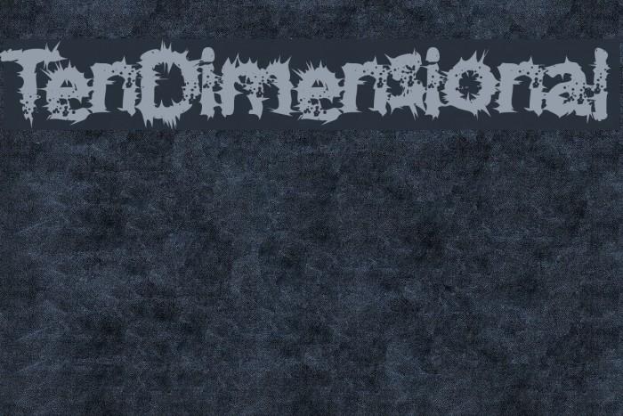 TenDimensional Font examples