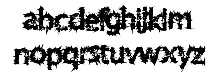 TenDimensional Font LOWERCASE