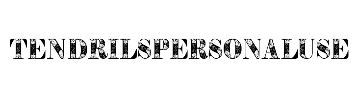 TendrilsPersonalUse  Free Fonts Download