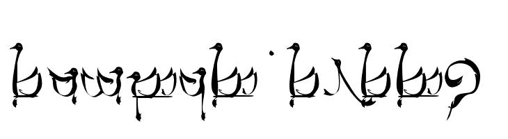 Tengwar Teleri  नि: शुल्क फ़ॉन्ट्स डाउनलोड