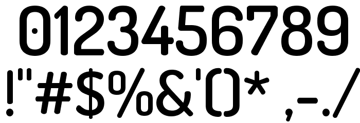 Terminal Dosis SemiBold Font OTHER CHARS