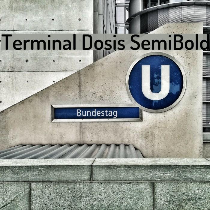 Terminal Dosis SemiBold Font examples