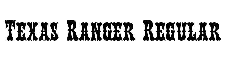 Texas Ranger Regular  font caratteri gratis
