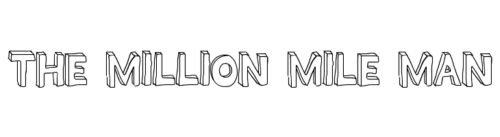THE MILLION MILE MAN  Free Fonts Download
