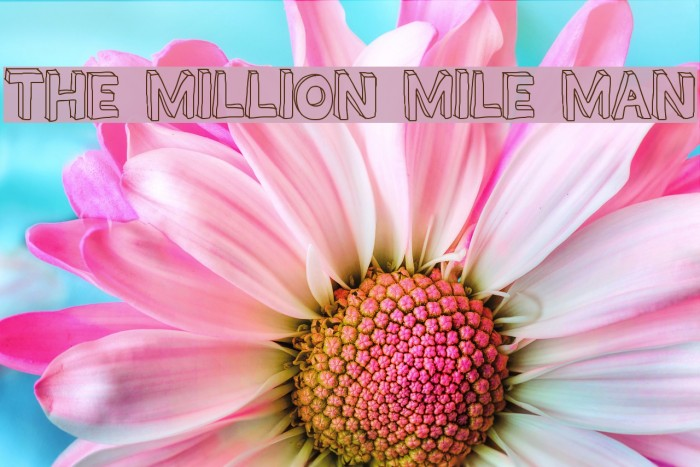 THE MILLION MILE MAN Font examples