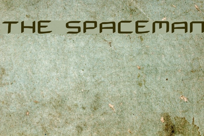 THE SPACEMAN Font examples