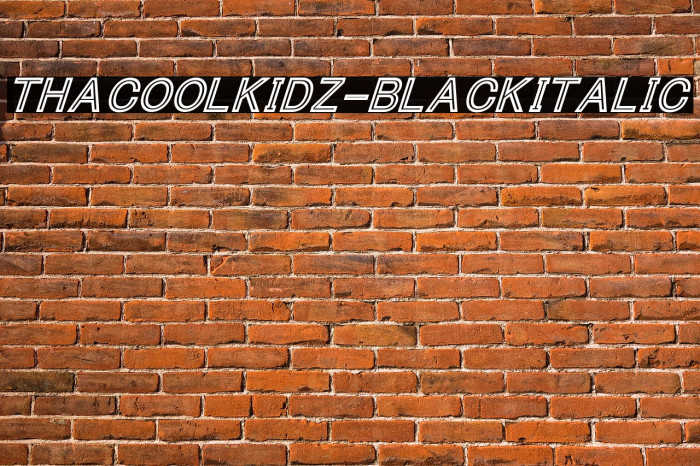 ThaCoolKidz-BlackItalic Font examples