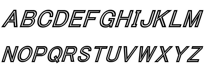 ThaCoolKidz-BlackItalic Font LOWERCASE