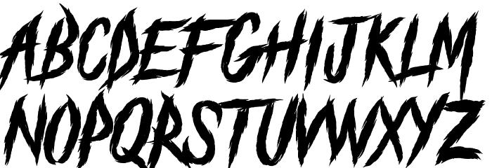 The Black Festival Schriftart Kleinbuchstaben