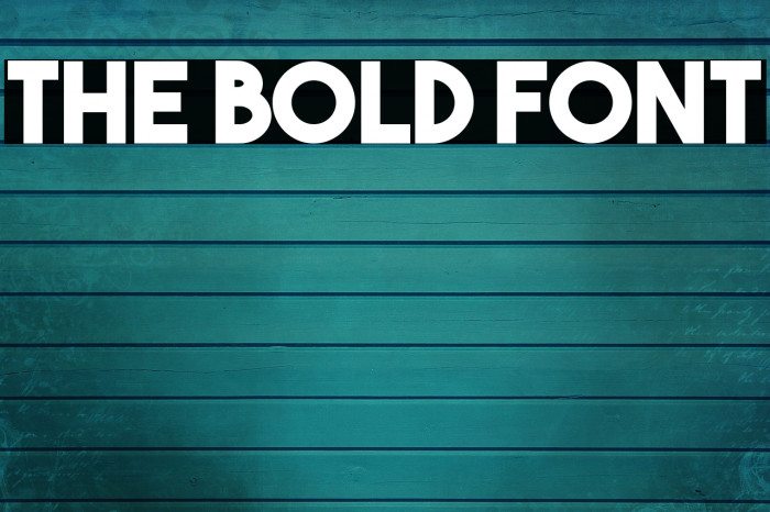 The Bold Font フォント examples