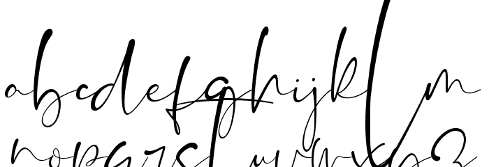 The Brittany Script Font LOWERCASE