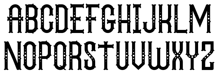 The Circus Show FreeVersion Font UPPERCASE