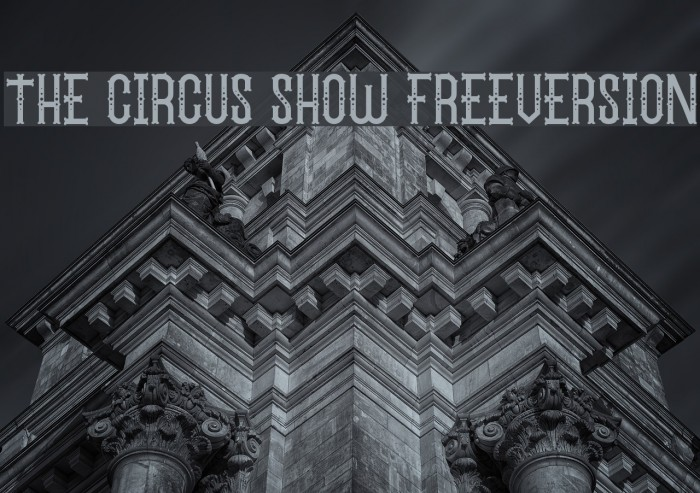 The Circus Show FreeVersion フォント examples
