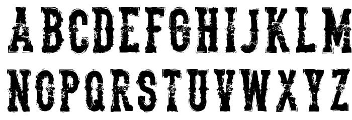 The Deadliest Saloon Font UPPERCASE