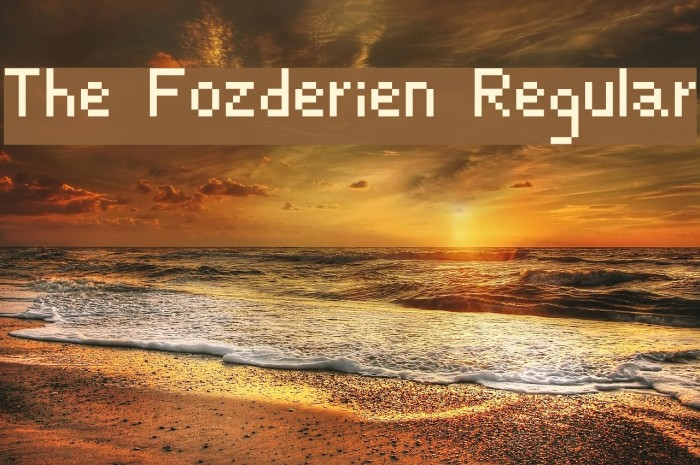 The Fozderien Regular Font examples