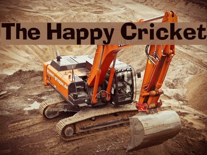 The Happy Cricket Font examples