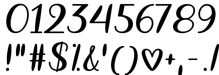 The Heart Chakra Regular Font OTHER CHARS