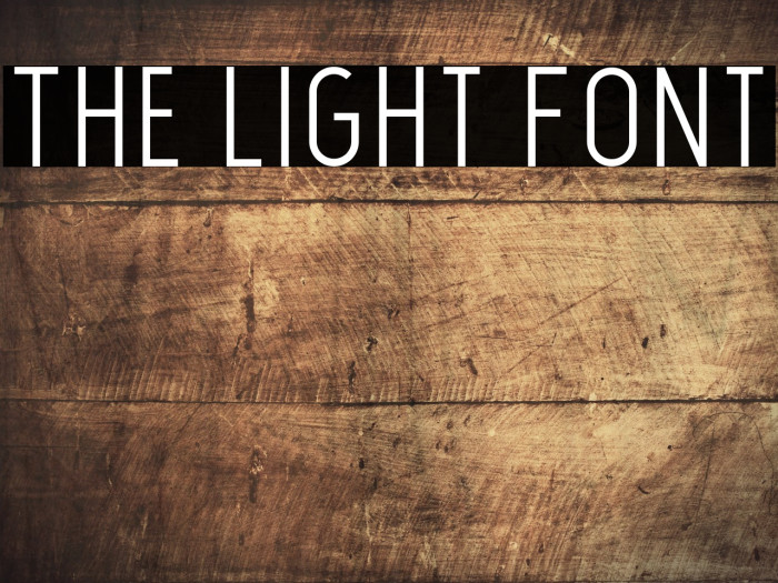 The Light Font Caratteri examples