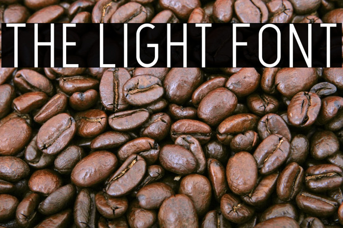 The Light Font Font examples