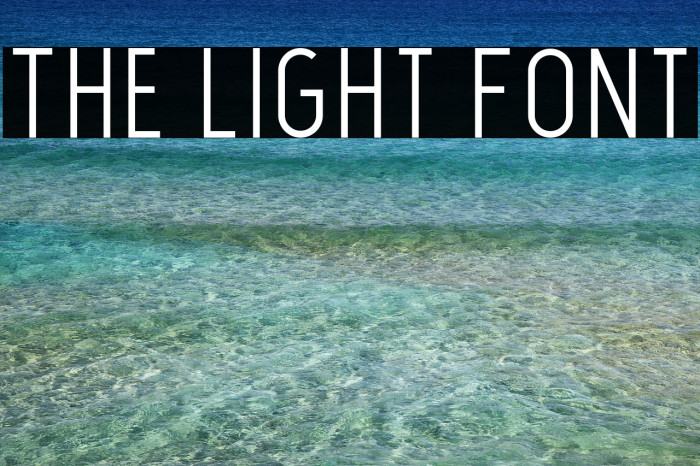 The Light Font Fonte examples