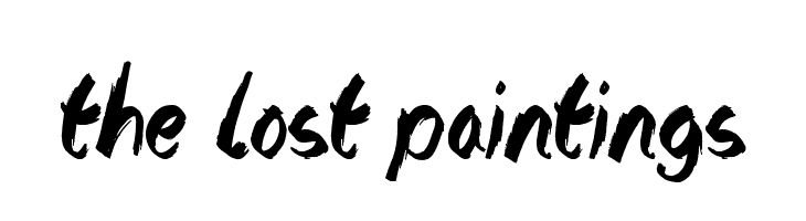 The Lost Paintings  Free Fonts Download