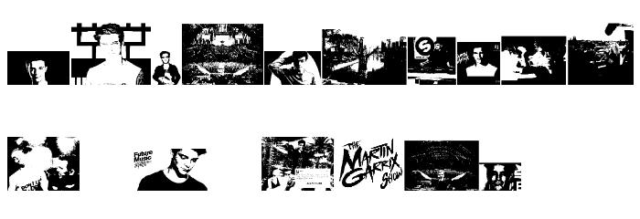 The Martin Garrix Font Font Alte caractere