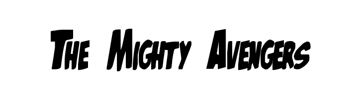 The Mighty Avengers  Free Fonts Download