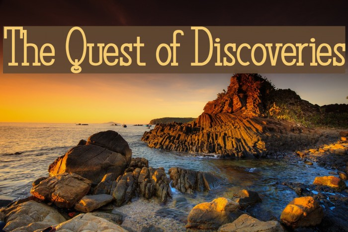 The Quest of Discoveries Font examples