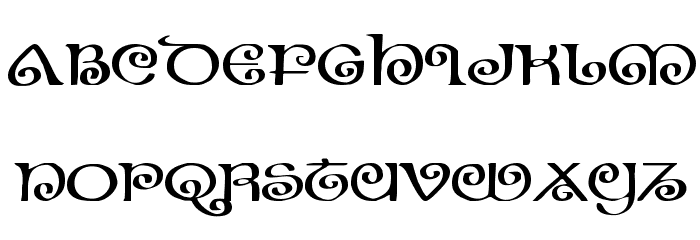 The Shire Expanded Font UPPERCASE