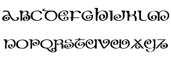 The Shire Expanded Font LOWERCASE