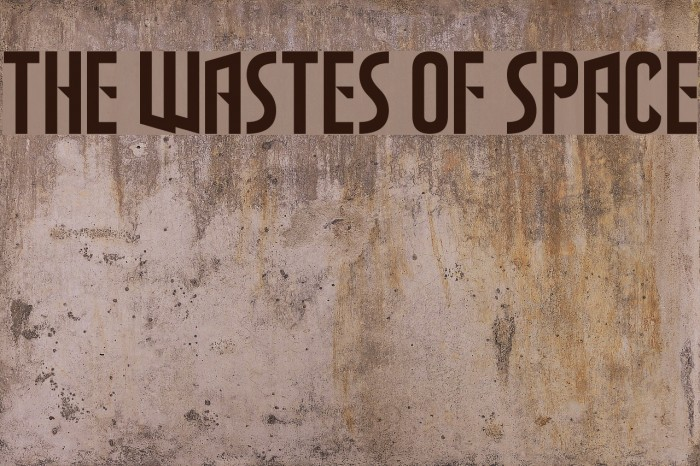 The Wastes of Space Font examples