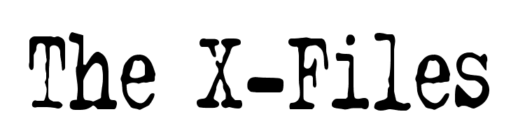The X-Files  Free Fonts Download