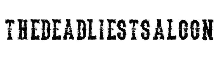 TheDeadliestSaloon  Free Fonts Download