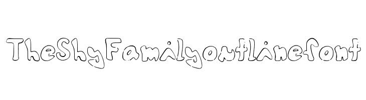 TheShyFamilyoutlinefont  Free Fonts Download
