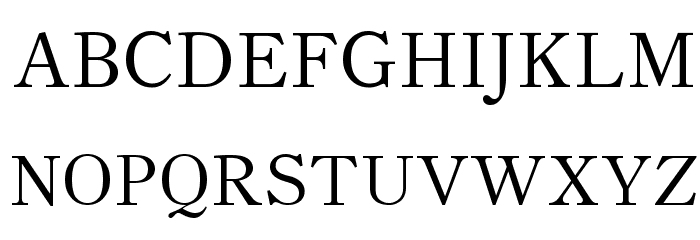 Theano Old Style Regular Font UPPERCASE