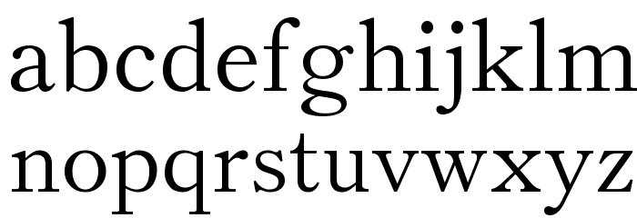 Theano Old Style Regular Font LOWERCASE