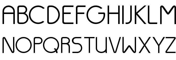 Thesis-Regular Font UPPERCASE