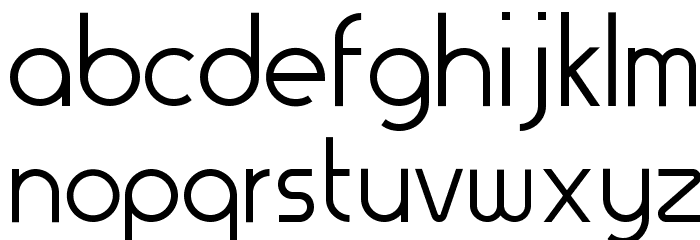 Thesis-Regular Font LOWERCASE