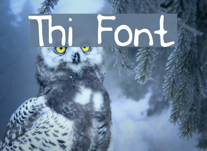 Thi Font examples