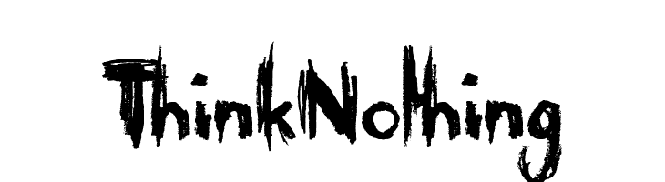 Think Nothing  Free Fonts Download