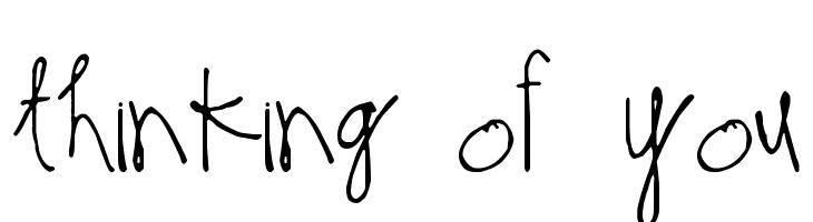 Thinking of You  baixar fontes gratis