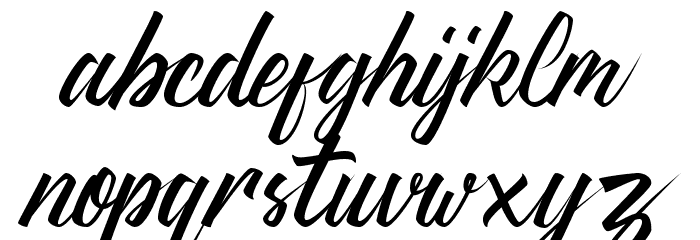 Thipe Typeface Regular DEMO Font LOWERCASE