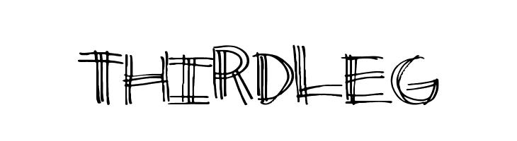 ThirdLeg  Скачать бесплатные шрифты