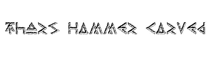 Thors Hammer Carved  Descarca Fonturi Gratis