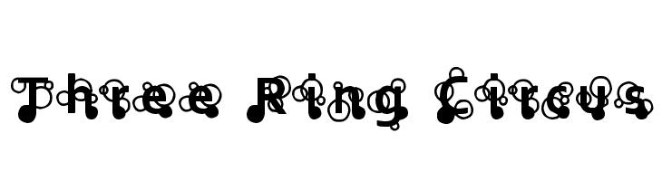 Three Ring Circus  Скачать бесплатные шрифты