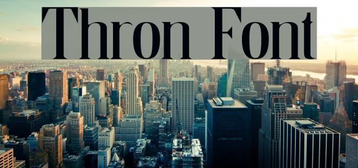 Thron Fonte examples