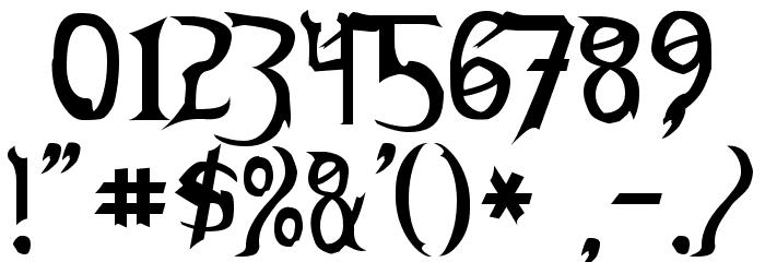 Thundara Font OTHER CHARS