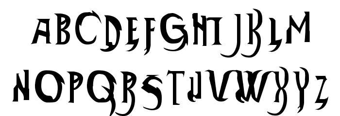 Thundara Font LOWERCASE