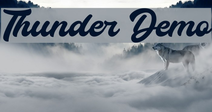 Thunder Demo Font examples