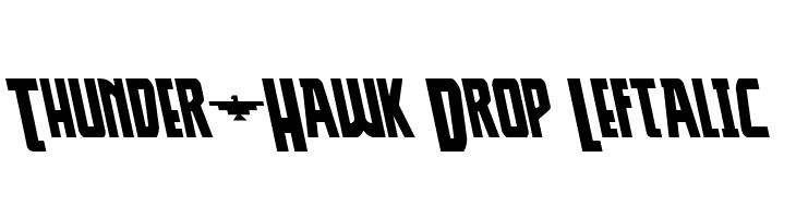 Thunder-Hawk Drop Leftalic  Free Fonts Download